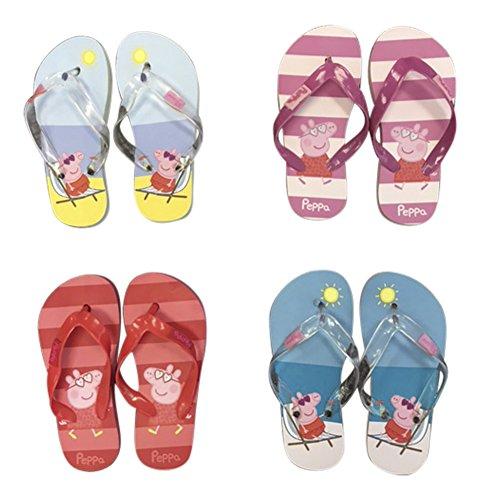 Filles / enfants en caoutchouc Sandale Flip Flops Chaussures Tongs pour la plage Jaune plage