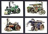 goldenera Traktion Motoren–Ein Set von 4Postkarten (Burrell, Fowler, AVELING & ALLCHIN)