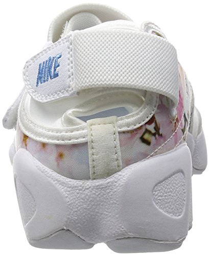 Nike Wmns Air Rift Print, Chaussures de Sport Femme, Blanc Blanc (blanc / noir)