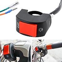 "Motorcycle 7/8"" Universal Headlight Handlebar Switch Fog Spot Light Mounting Switch DC 12V for Motorbike"