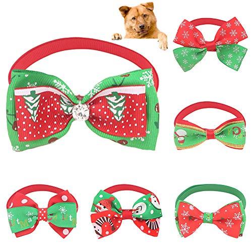 LPxdywlk Weihnachten Haustier Hund Katzen Einstellbare Fliege Kragen Bowknot Krawatte Party Decor Festival Haustiere Lieferungen EINNone -