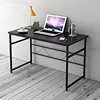 Cherry Tree Furniture Sleek Design Computer Desk Home Office Table W100 x D50 x H 72 cm (Black)