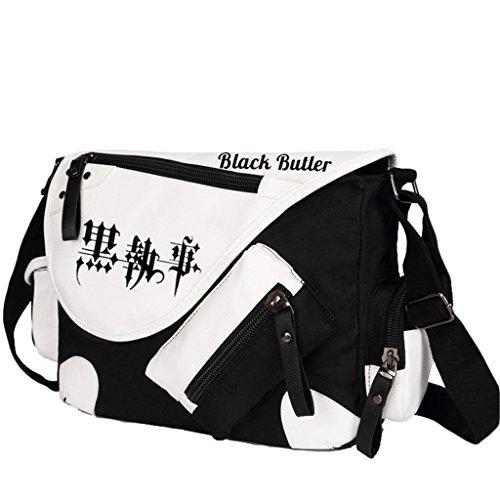 Yoyoshome giapponese anime Cosplay zaino Zaino Crossbody messenger bag borsa a tracolla nero Fairy Tail 1 Black Butler