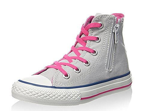 Converse Chuck Taylor Hi Canvas mixte adulte, toile, sneaker high ArgentoGri