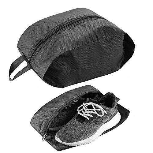 Cmxing Schuhtasche 2er Set Wasserfeste Schuhbeute Reise Koffer Gepäck Schuhsack Reise für Schuhe (Schwarz) (Kleine Schwarze Nylon Kleid)
