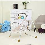 AIBAB Baby Wippe Elektrische Intelligente Wiege Schaukelstuhl USB Musik Drei-Gang-Swing Amplitude Drei Timing mit Moskitonetz Schlafen Artefakt