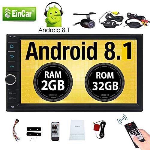 EINCAR 7-Zoll-Touch-Screen-Auto-Stereo Android 8.1 System Octa-Core Auto Radio Doppel Din Nein DVD-Player eingebaute Bluetooth-Freisprech-Bunte Lichter Head Unit Unterst¨¹Tzung GPS Navigation/Wi