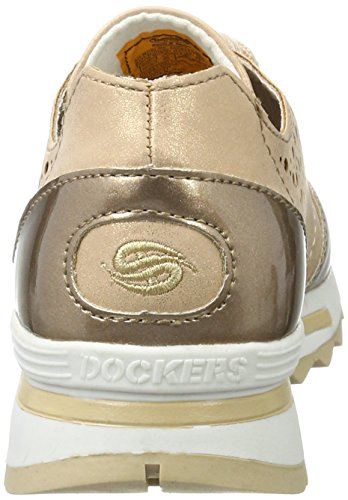 Dockers by Gerli 40cr201-686929, Scarpe da Ginnastica Basse Donna Oro (Gold/multi 929)
