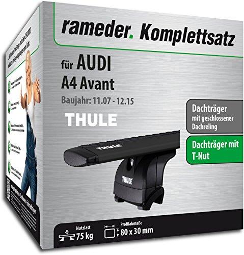 Rameder Komplettsatz, Dachträger WingBar für Audi A4 Avant (118193-06988-1)