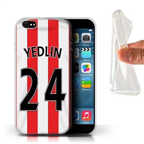 Offiziell Sunderland AFC Hülle / Gel TPU Case für Apple iPhone 6S+/Plus / Khazri Muster / SAFC Trikot Home 15/16 Kollektion Yedlin