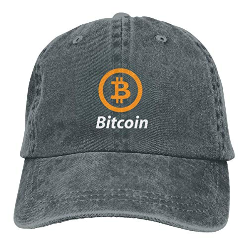 Ingpopol Bitcoin Logo 2017 Washed Retro Adjustable Cowboy Hat Trucker Cap for Man and Woman