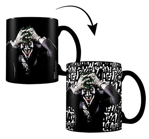 DC Comics Thermoeffekt-Tasse Killing Joke - schwarz, bedruckt, aus Keramik, Fassungsvermögen ca....