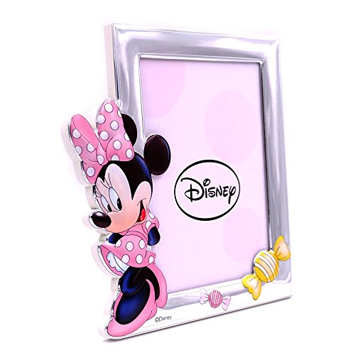490ee2571c32 Valenti & co Technical Painted Photo Frame with 3D Silver Minnie Mouse  Disney 13 ...