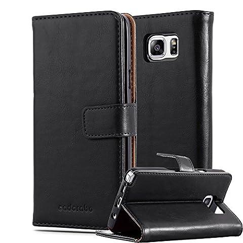 Cadorabo - Luxury Book Style Hülle für Samsung Galaxy NOTE 5 - Case Cover Schutzhülle Etui mit Standfunktion und Kartenfach in