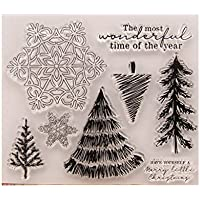 Kimruida Snowflake DIY Silicone Clear Stamp Cling Seal Scrapbook Embossing Album Decor