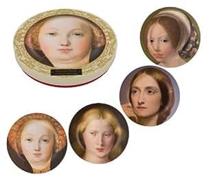 National Gallery Lot de 4assiettes en mélamine Motif portraits de femmes pensives 20cm