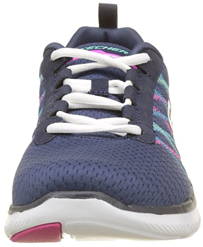 Skechers Damen Flex Appeal 2.0 Outdoor Fitnessschuhe Blau (Navy/multi)