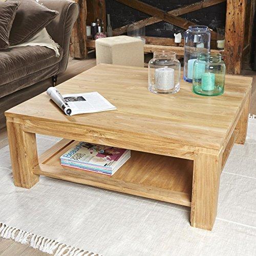 Table Basse carrée en Bois de Teck 100