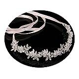 AmDxD Chapado en Plata Mujer Accesorios para el Cabello Boda Flor Oval  Cristal Cintas para el 3509d38a57d8