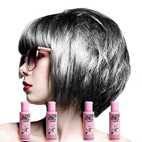 X4 Renbow Crazy Color Conditioning Hair Colour Cream 100ml - Platinum by Renbow