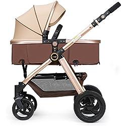 ERRU - Poussettes combinées Pliant bébé poussette / pouvez vous asseoir Allongez-deux voies de transport légèrement hiver et d'été à double usage pour bébé Chariot Pour les parents qui veulent des voyages de mode ( Couleur : B )