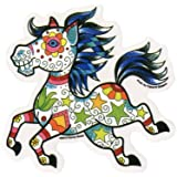 "Sunny Buick -Adorable Tattoo Candy Horse autocollant Sticker - 5"" x 5"" - Weather Resistant, Long Lasting for Any Surface"