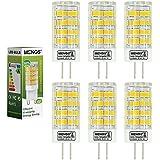 MENGS® Pack de 6 Bombilla lámpara LED 5 Watt G4, 51x 2835 SMD, Blanco Frío, AC/DC 12V