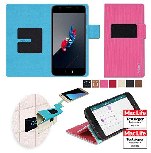 reboon Hülle für Panasonic Eluga I4 Tasche Cover Case Bumper   Pink   Testsieger