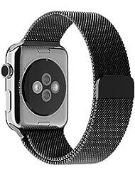 Apple Watch Correa, con Cerradura Imán Único, JETech 42mm Milanese Loop Correa de Acero Inoxidable Reemplazo de Banda de la Muñeca para Apple Watch Todos los Modelos 42mm No Hebilla Needed (Negro) - 2108
