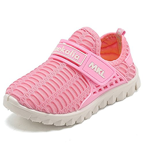 BAINASIQI Unisex Babyschuhe Kinder Sommer Atmungsaktive Sportschuhe Laufschuhe Sommer Haushalt und Outdoor Turnschuhe (EU 29, Rosa)