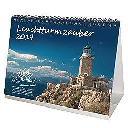 Leuchtturmzauber · DIN A5 · Premium Tischkalender/Kalender 2019 · Leuchtturm · Nordsee · Ostsee · Meer · Hafen · Schiff · Wellen · Edition Seelenzauber