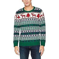 NIZZIN Elm, Suéter de Navidad Unisexo, Verde (Green 19-5420), Medium