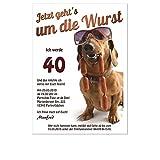 Witzige und originelle Geburtstagseinladung zum 30. 40. 50. - jedes Alter möglich, 40 Karten - DIN A5 oder B6