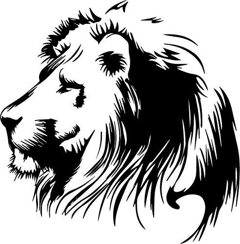 SUPERSTICKI® Löwe Lion 20 cm Aufkleber Autoaufkleber Sticker Tuning Vinyl UV& Waschanlagenfest Tuningsticker