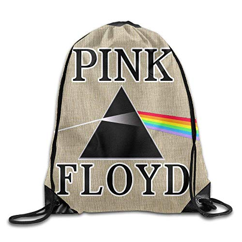 DHNKW Dark Side of The Moon Floyd Logo Sack Bag Drawstring Backpack Sport Bag -