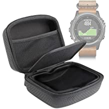 DURAGADGET Carcasa Para Smartwatch Garmin Fénix 3 HR / Leather / Nylon / Titanium - Separador Protector Y Bolsillo De Rejilla Interno