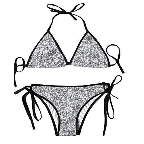Women's Bathing Swimsuits Adjustable Strap Pink Eiffel Tower Bikini Set Two Pieces Swimwear (Pink Lady Kleinkind Kostüme)