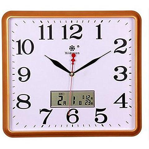 Piazza Orologio da parete elettronico Soggiorno orologi muto e orologi al quarzo Orologio ( colore : Oro )