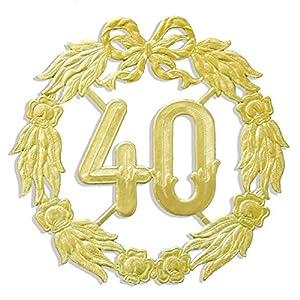 kunze a013070401aniversario número 40, diámetro 27cm, Oro