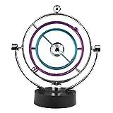 Swing Ball Elettronico Scrivania Moto Perpetuo Giocattolo di Scienze Fisiche Cinetico Art Globe Newton Pendulum Balls per Ufficio Casa Ornamenti by Zerodis