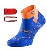 Lurbel 'Tiwar' - Kurze Premium Laufsocken/Sportsocken mit Kanälen für Luftzirkulation, leicht gepolstert, für Damen & Herren (orange, 39-42)