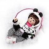 Nicery Reborn Baby Puppe Weiche Simulation Silikon Vinyl 22 Zoll 55 Cm Magnetische Mund Lebensechte Spielzeug Junge Mädchen Augen öffnen