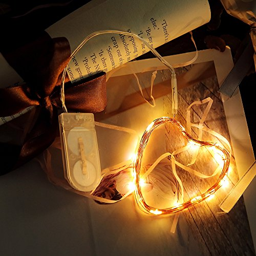 Lichterkette Außen, HUIHUI Wasserdicht 1M 10 LEDs Kupferdraht Lichterkette batteriebetrieben für Party, Garten, Weihnachten, Halloween, Hochzeit, Indoor & Outdoor Decor (Mehrfarbig,One size) (Halloween Outdoor-leuchten Decor)