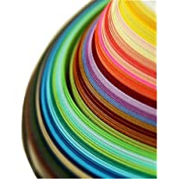 4 Stück Quilling Papier Set Insgesamt 720 Papierstreifen Quillingstreifen 36 Farben Papierbreite Set 3/ 5/ 7/ 10mm X 54 cm Kunst Streifen für Basteln DIY