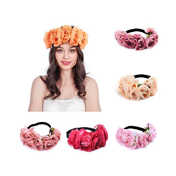 Diadema elegante para mujer, diseño de flores de camelia