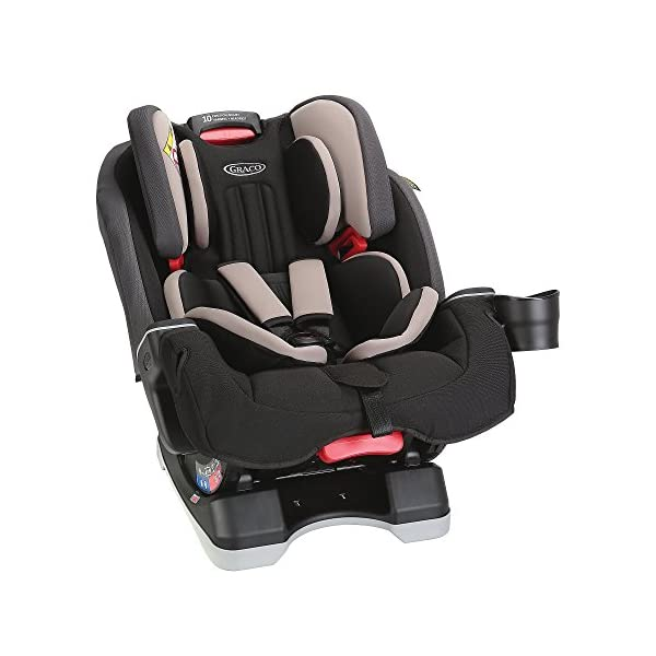 Graco Milestone All-in-One Car Seat, Group 0+/1/2/3, Aluminium Graco Group 0+/1/2/3 can be used for kids from birth up to 12 years of age Easily converts to and from the three riding modes The headrest can be adjusted easily with one hand to grow with your child 3