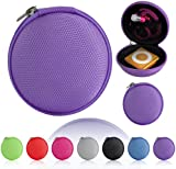 Magic Global Gadgets® - Purple MP3 / Earphones / Headphones / iPod Shuffle / iPod Nano 6 / Apple Watch Sport / Memory Cards / Storage Bag / Universal Carrying Clamshell Pouch Case Cover