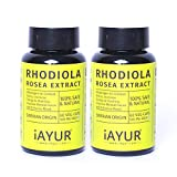 iAYUR Rhodiola Rosea Extract (Pack of 2) Tested & Certified 100% Potent, Natural