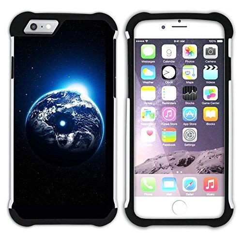 Graphic4You Solar System Map Space Astrology Design Hart + Weiche Kratzfeste Hülle Case Schale Tasche Schutzhülle für Apple iPhone 6 Plus / 6S Plus Design #14