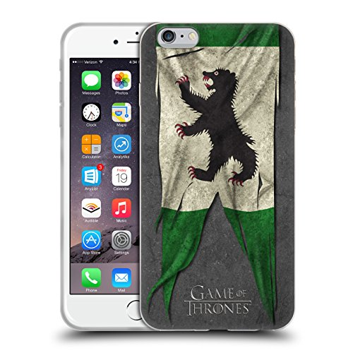 Offizielle HBO Game Of Thrones Lannister Sigil Flags Soft Gel Hülle für Apple iPhone 6 / 6s Mormont